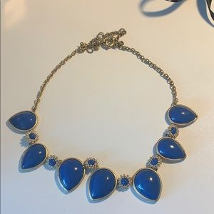 Cobalt Blue and crystal J-crew Necklace